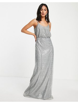 Chi Chi London sequin dress in blue-blues