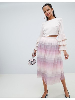 Chi Chi London tiered midi skirt