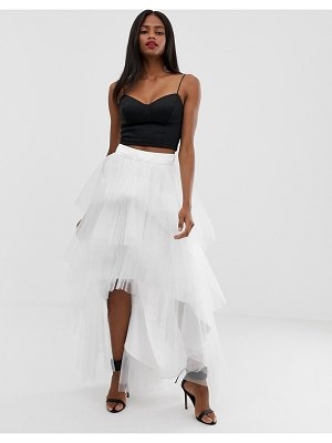 Chi Chi London tiered tulle skirt