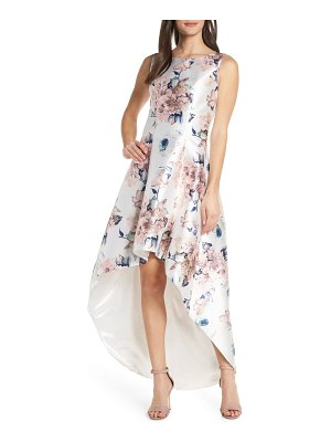 Chi Chi London winter floral high/low satin cocktail dress
