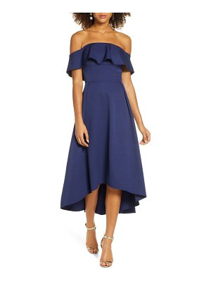 Chi Chi London yazmina off the shoulder gown