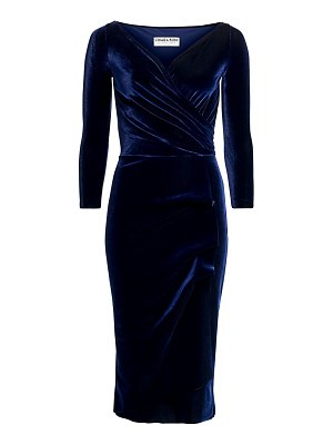 Chiara Boni La Petite Robe florien ruched velvet dress