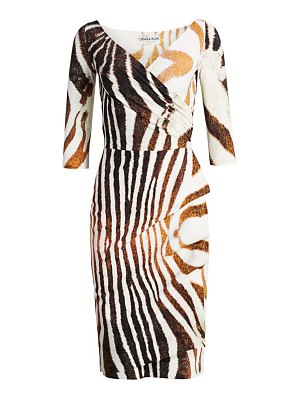 Chiara Boni La Petite Robe florien zebra-stripe sheath dress