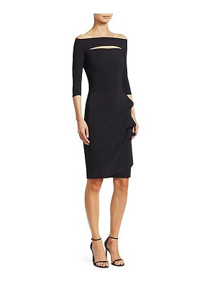 Chiara Boni La Petite Robe kate ruffled three-quarter sleeve bodycon dress