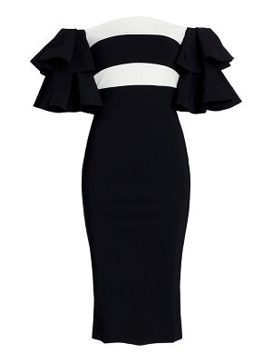 Chiara Boni La Petite Robe parvati off-the-shoulder ruffle bodycon dress