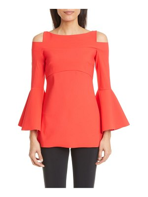 Chiara Boni La Petite Robe zandra cold shoulder long bell sleeve top