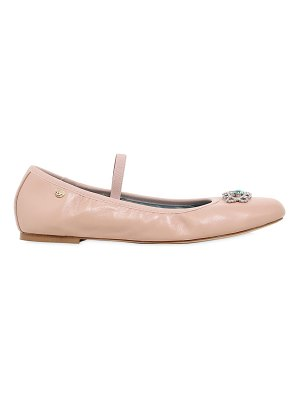 Chiara Ferragni 10mm embellished eye leather flats