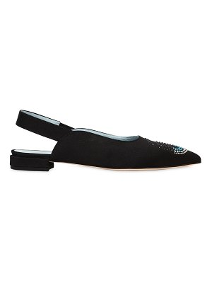 Chiara Ferragni 10mm flirting eyes grosgrain flats