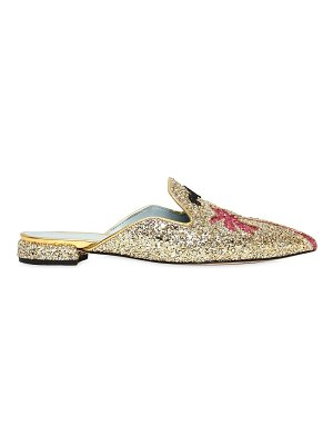 Chiara Ferragni 10mm suite life glittered palms mules