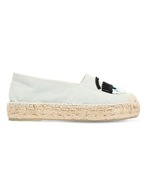 Chiara Ferragni 20mm flirty eye cotton canvas espadrille
