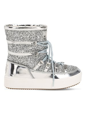 Chiara Ferragni 30mm glittered snow boots