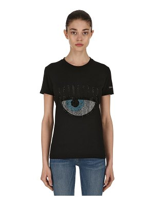 Chiara Ferragni Embellished eye cotton jersey t-shirt