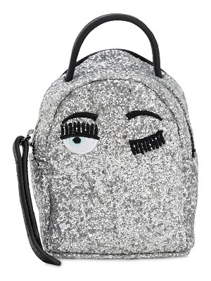 Chiara Ferragni Extra mini glittered back pack