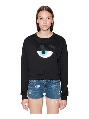 Chiara Ferragni Eye patch cotton sweatshirt