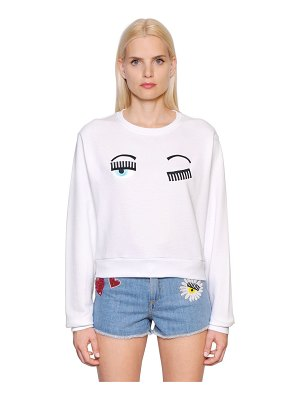 Chiara Ferragni Flirting embroidered cotton sweatshirt