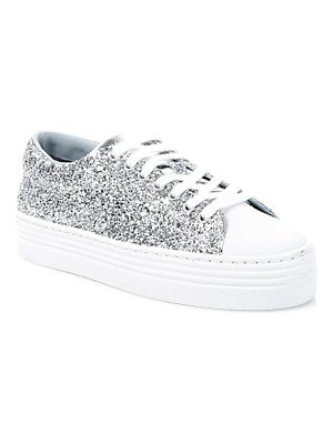 Chiara Ferragni glitter leather platform sneakers