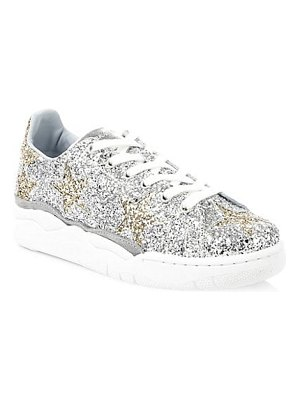 Chiara Ferragni glitter leather sneakers