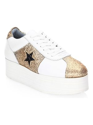 Chiara Ferragni star leather platform sneaker