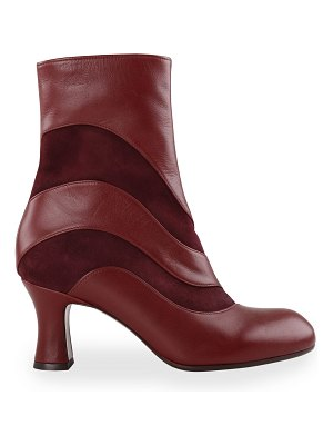 Chie Mihara Abe Mixed Leather Ankle Booties