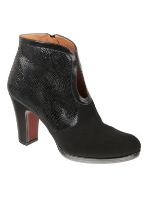Chie Mihara Cesna Snake-Print Leather Ankle Booties