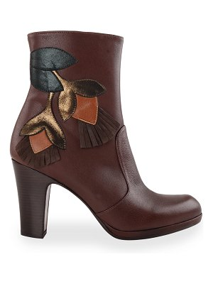 Chie Mihara Cheche Floral Patch Ankle Booties