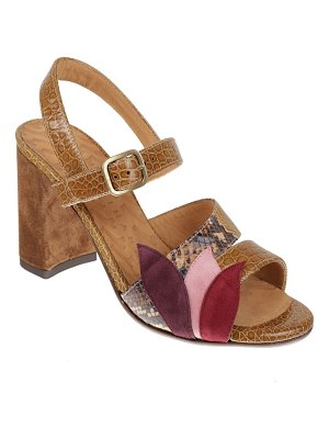 Chie Mihara Facun Snake-Print Leather Sandals