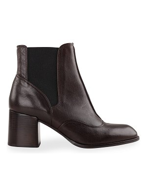 Chie Mihara Ginko Leather Short Chelsea Booties