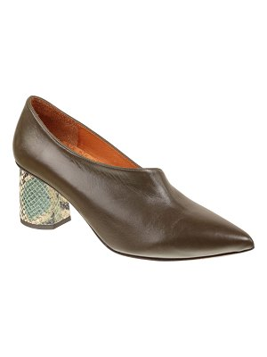 Chie Mihara Loa Mixed Leather Asymmetrical Pumps