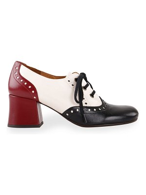 Chie Mihara Micuca 50mm Colorblock Lace-Up Oxford Loafers
