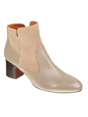 Chie Mihara Nica Mixed Leather Zip Booties