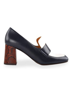 Chie Mihara Piripi Mixed Leather Loafers