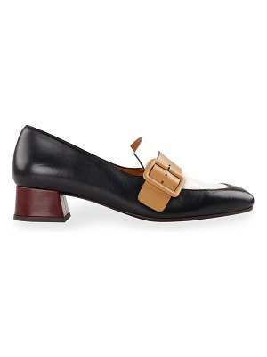 Chie Mihara Reva Colorblock Buckle Loafers