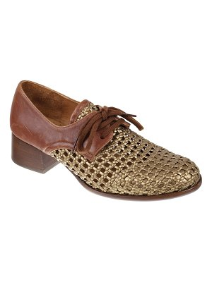 Chie Mihara Sagal Mixed Leather Woven Loafers