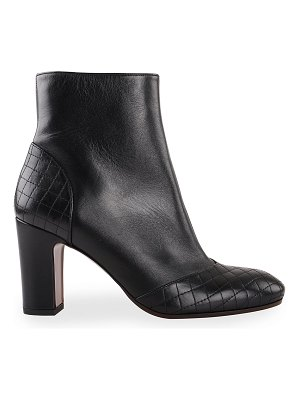 Chie Mihara Waida Quilted Goatskin Ankle Booties