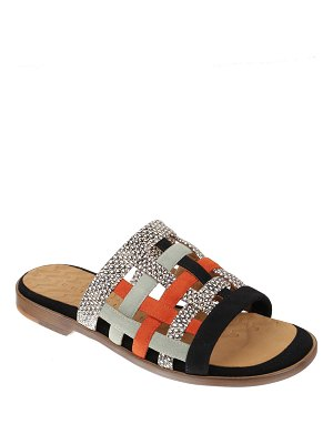 Chie Mihara Wela Woven Mixed Leather Mule Sandals