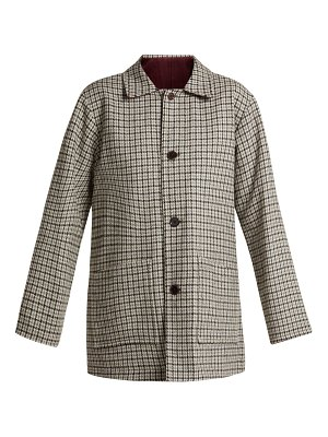 CHIMALA Checked Reversible Wool Blend Jacket