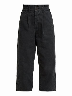 CHIMALA Cropped Cotton Twill Trousers