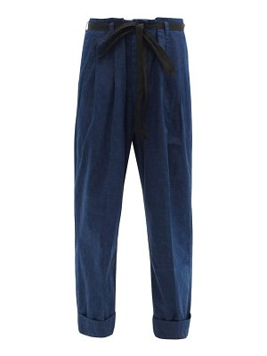 CHIMALA paperbag-waist cropped jeans