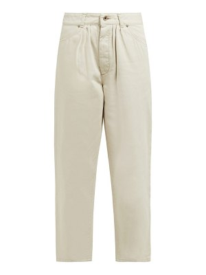 CHIMALA pleated high rise jeans