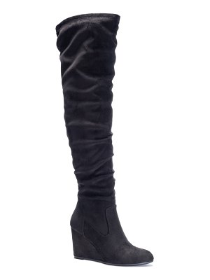 Chinese Laundry cocoa over the knee boot