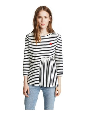 Chinti and Parker 3/4 frill detail tee