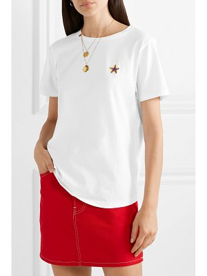 Chinti and Parker appliquéd cotton-jersey t-shirt