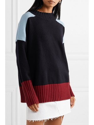 Chinti and Parker comfort oversized color-block cashmere sweater
