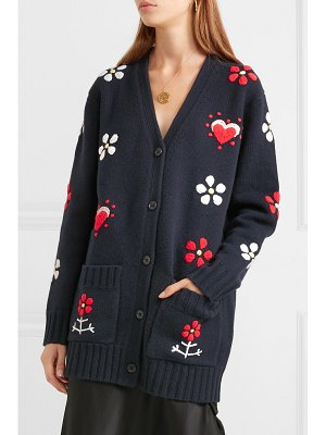 Chinti and Parker embroidered wool cardigan