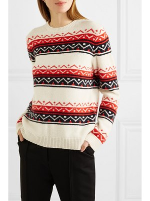 Chinti and Parker fair isle cashmere and wool-blend sweater