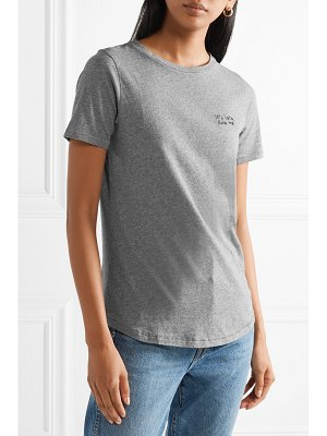 Chinti and Parker kiss me embroidered cotton-jersey t-shirt