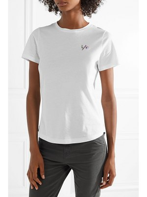Chinti and Parker love arrow embroidered cotton-jersey t-shirt