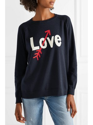 Chinti and Parker love arrow intarsia cashmere sweater