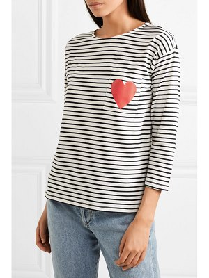 Chinti and Parker printed striped organic cotton-jersey top