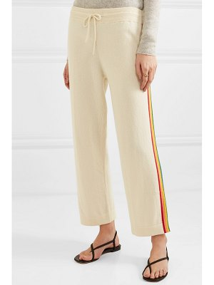 Chinti and Parker rainbow striped cashmere track pants